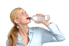 Free Business Woman Drinking Water Stock Photography - 8213112