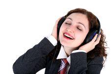 Free Listening Royalty Free Stock Image - 8215076