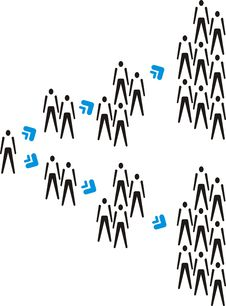 Free Multiplying People Stock Images - 8215554