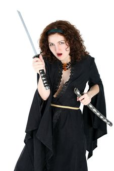 Free Woman With Katana Stock Photos - 8215633