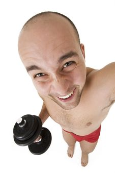 Free Funny Guy With Bar Stock Photos - 8215643