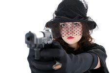 Free Girl With Gun Royalty Free Stock Photography - 8216117