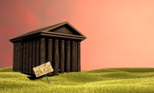 Free Temple In The Middle Of The Grass Royalty Free Stock Photo - 8216255