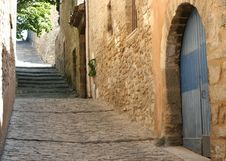 Street And Buildings Made Of Stone Royalty Free Stock Photo