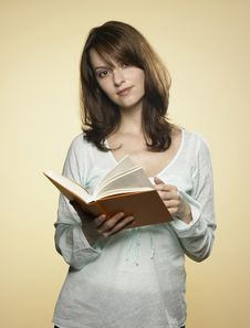 Free Woman With Book 03 Royalty Free Stock Image - 8216716