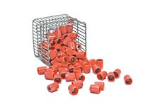 Free Test Tube Caps Out Of Basket Stock Photography - 8217292