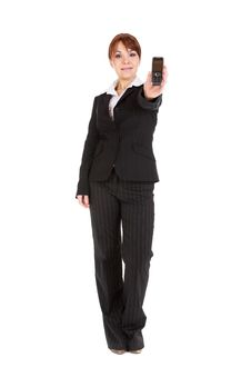 Free Businesswoman With Mobile Phone Royalty Free Stock Photo - 8217385