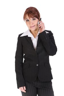 Free Businesswoman With Mobile Phone Stock Photography - 8217392