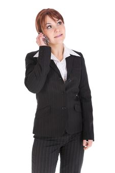 Free Businesswoman With Mobile Phone Royalty Free Stock Photography - 8217397