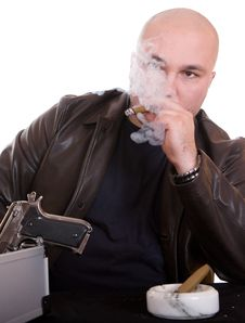 Free Man With Cigar Royalty Free Stock Photography - 8217557
