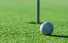Old Golf Ball Royalty Free Stock Photos
