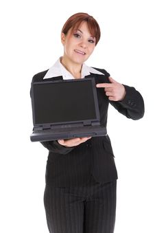 Free Businesswoman With Laptop Royalty Free Stock Photography - 8217637