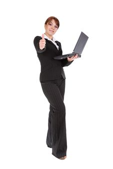 Free Businesswoman With Laptop Royalty Free Stock Photo - 8217645