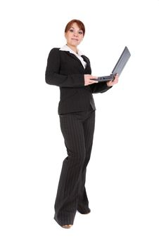 Free Businesswoman With Laptop Stock Photography - 8217652