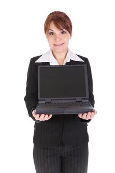 Free Businesswoman With Laptop Royalty Free Stock Image - 8217656
