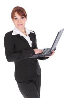 Free Businesswoman With Laptop Royalty Free Stock Photography - 8217657