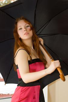 Free Woman With Umbrella Stock Photos - 8218023