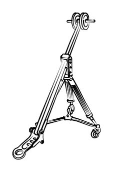 Tripod For Video Camera Royalty Free Stock Photos