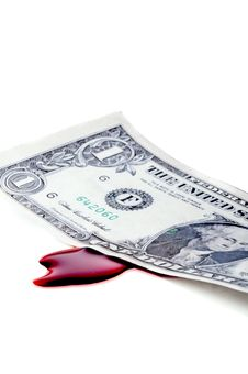 Free American Money Bleeding From The Recession Royalty Free Stock Images - 8218879