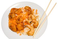 Free Chinese Food On White Royalty Free Stock Photos - 8219688
