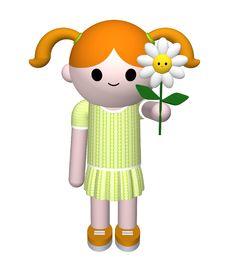 Free Girl Holding Flower Stock Image - 8219711