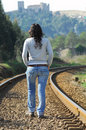 Free Walking On A Railway Royalty Free Stock Photo - 8222635