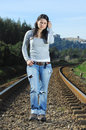 Free Walking On A Railway Stock Images - 8222644