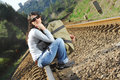 Free Sitting On A Railway Royalty Free Stock Image - 8222706