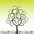 Free Vector Tree In Spring Royalty Free Stock Photography - 8227287