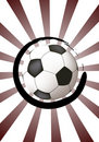 Free Abstract Design With Soccer Ball Royalty Free Stock Photos - 8227658