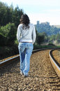 Free Walking On A Railway Stock Photo - 8228760
