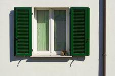 Window Door Green Stock Photos