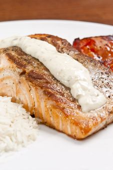 Free Cooked Salmon Stock Image - 8220241