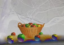 Free Apples In The Basket Stock Photography - 8220352