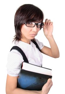 Free Attractive Student With Big Book Royalty Free Stock Photos - 8220518