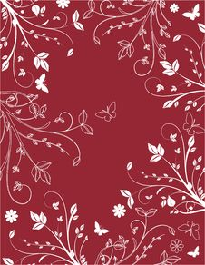 Claret Floral Background Royalty Free Stock Photos
