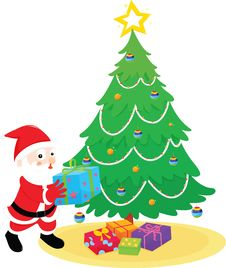 Free Santa With Presents Royalty Free Stock Photo - 8221045