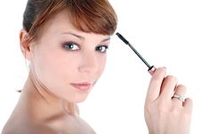 Free Girl  With Mascara Stock Photography - 8221702