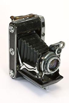 Free Old Photo Camera On White Stock Photos - 8222123