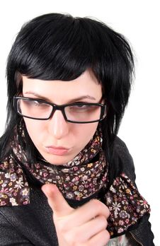 Free Crazy Girl In Glasses Stock Photo - 8222410