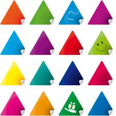 Free Set Of Color Stickers Royalty Free Stock Image - 8222936