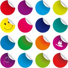 Free Set Of Color Stickers Royalty Free Stock Photos - 8222938
