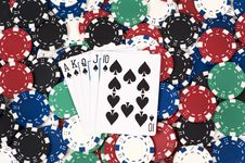 Free Royal Flush Royalty Free Stock Images - 8223129