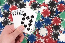 Free Royal Flush Stock Photos - 8223133