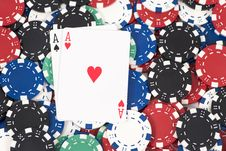 Free Pocket Aces Stock Photo - 8223140