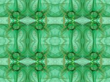 Free Seamless Wallpaper In Green And Gold Royalty Free Stock Photo - 8223985