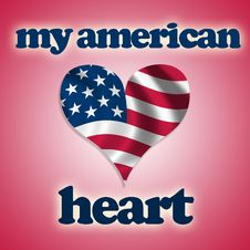 My American Heart Stock Photography