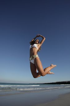 Free Jumping Woman Stock Images - 8224274