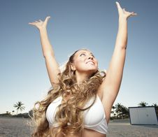 Free Woman With Positive Attitude Royalty Free Stock Photography - 8224307