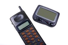 Wireless Pager And Cell-phone . Stock Image